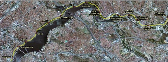eminonu alibeykoy tramvay haritasi