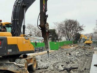 la construcción del tranvía eminonu alibeykoy se está completando aunque