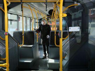 ჰიგიენის მობილიზაცია ერზურუმში საზოგადოებრივ ტრანსპორტში