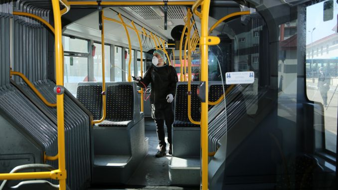 hygiene mobilization in public transport in erzurum