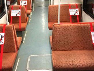 गझियान्टेप मधील बस आणि ट्रामचे सामाजिक अंतर