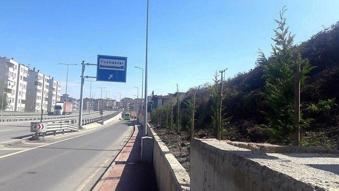 Environment arrangement at the Golcuk Yuzbasilar intersection
