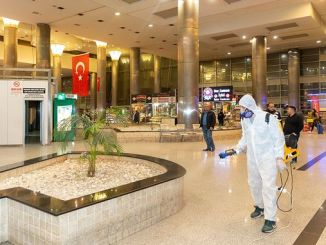 kayseri intercity bus terminal disinfected