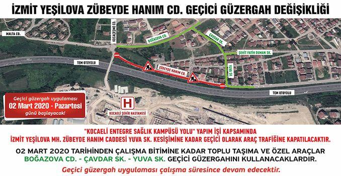 Carretera del hospital de la ciudad de Kocaeli