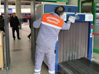 Coronal virus cleansing at Kocaeli intercity bus terminal