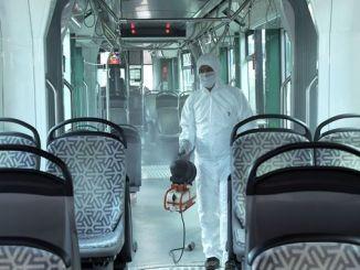 Konyadakı ictimai nəqliyyat vasitələri epidemiyalara qarşı dezinfeksiya edilir