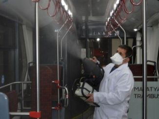 mass transportation vehicles disinfected in malatya
