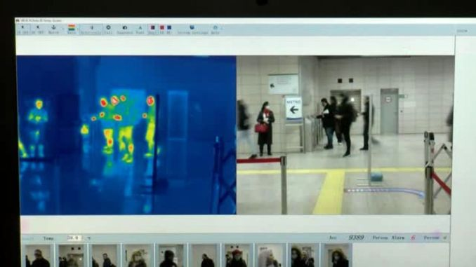 Thermal camera installed at marmaray stations