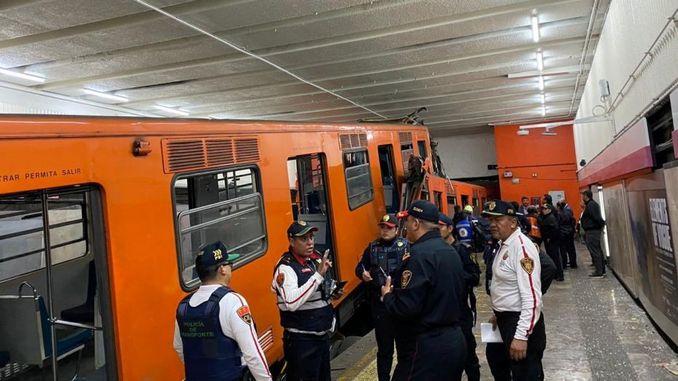 meksikada iki metro treni carpisti oldu yarali