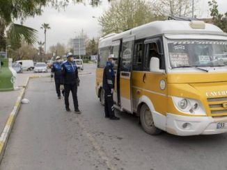mass transportation vehicles against coronavirus in Mersin