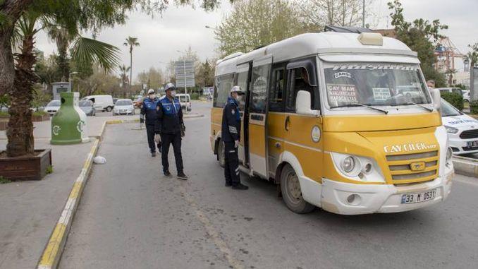 масови превозни средства срещу коронавирус в Мерсин