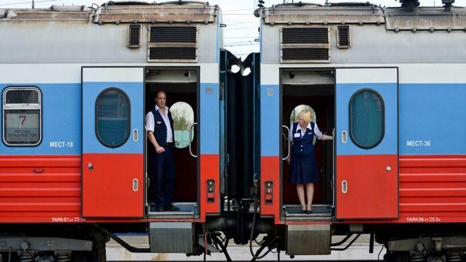 רכבת נוסעים ברוסיה בהסגר עם נגיף קורונה