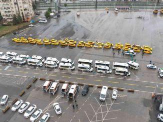 ticarət taksi və xidmət vasitələri dezinfeksiya edildi