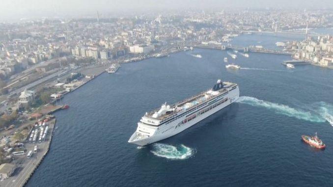Hits das Ende der Schiffe in den Hafen Informationen von turkiyede