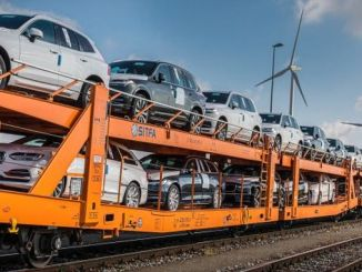 volvo cars transport their new cars by train instead of truck