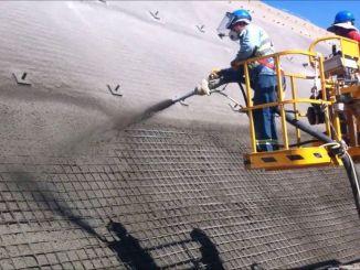 Пръскането на бетонни работи ще се извърши на моста за обявяване на търг и на трупите