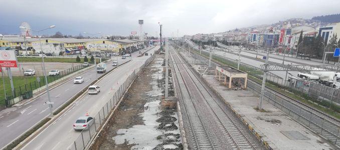 houses train station stops running