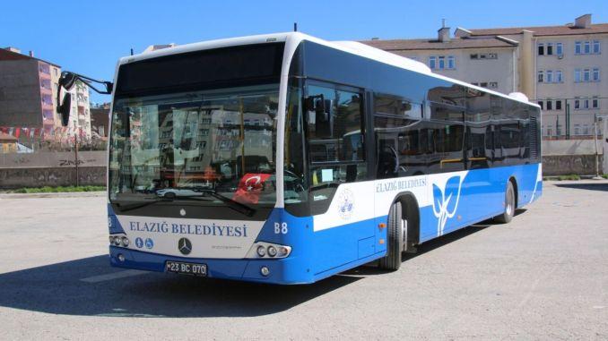 elazig municipality reorganized bus schedule