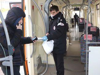 Se distribuyen máscaras gratuitas a los ciudadanos en Eskisehir