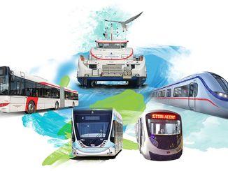 Eshot Metro Straßenbahn in Izmir Ramadan Einstellung für Izban und Izdeniz