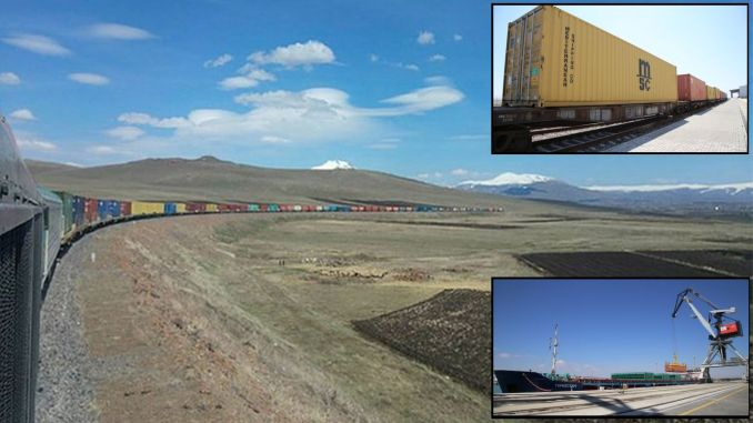 giant export train moving from kars to april opened the hazar