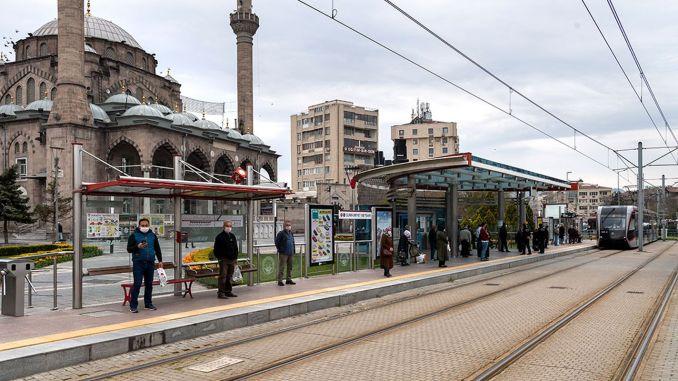 in Kayseri, public bus quarantine