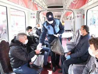 Kayseri, use mass transportation mask is distributed to citizens