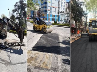 The roads in Kocaeli are undergoing maintenance and repair