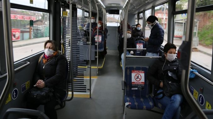 It is forbidden to ride unmasked public transportation vehicles in Kocaeli.