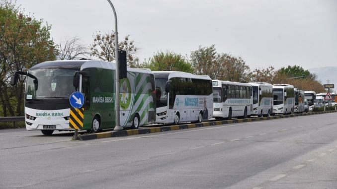 Bus support for those who are evicted from prison from the big city of Manisa