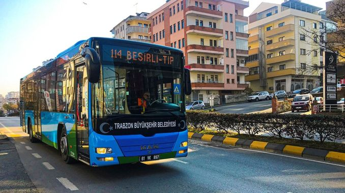 Prohibition of going out on bus routes in Trabzon