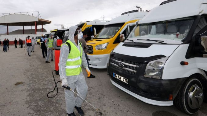 vanda minibus and commercial taxis were disinfected