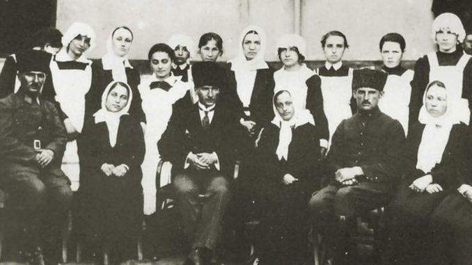 With Turkish nurses in Atatürk