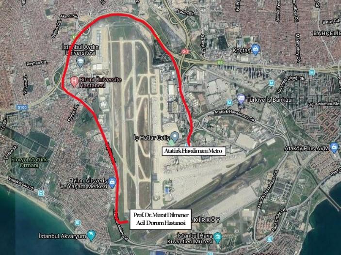 Ataturk Havalimani hastanesi icin yeni İETT hatti