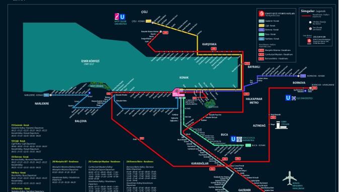 Linii de autobuz ESHOT de noapte