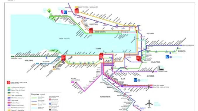 Mapa masovnog prevoza Izmir
