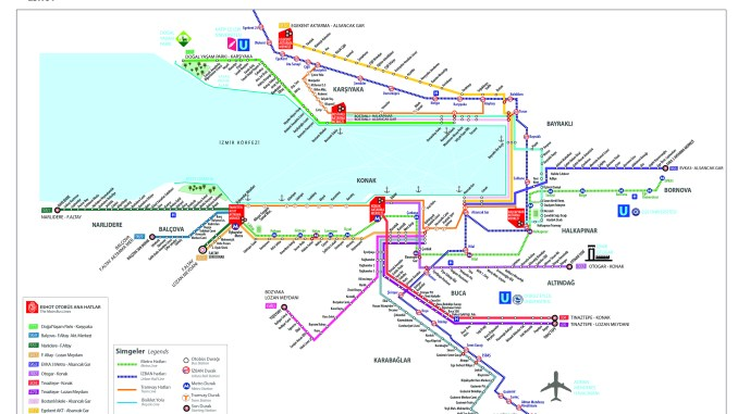 Harta transportului în masă Izmir