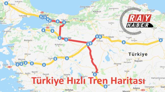 adana high speed train map