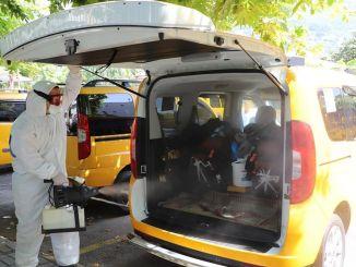 Таксі та таксі були дезінфіковані по всій Аланії