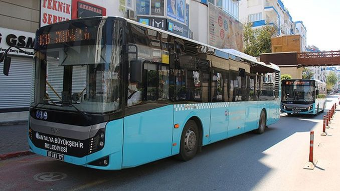Bus line will serve in daily restriction in Antalya