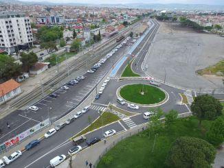 balikesir gar road was buried in green