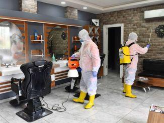 sokongan kebersihan untuk tukang gunting rambut dan pendandan rambut di ibu negara