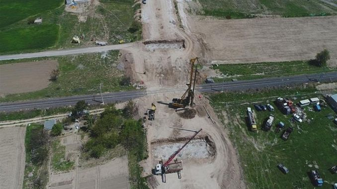 Ditas intersection and railroad crossing construction started