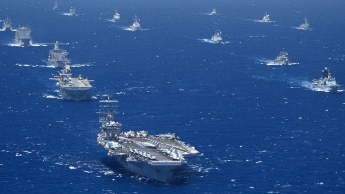 the world's largest naval exercise will be conducted in a restricted manner due to covid