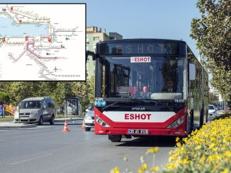 eshot stops map and eshot night bus lines map
