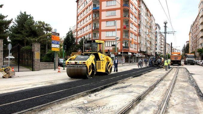 asphalt work did not slow down in the curfew in Eskisehir