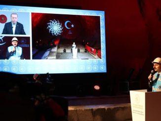Cahaya pertama muncul di terowongan proyek metro gayrettepe istanbul airport