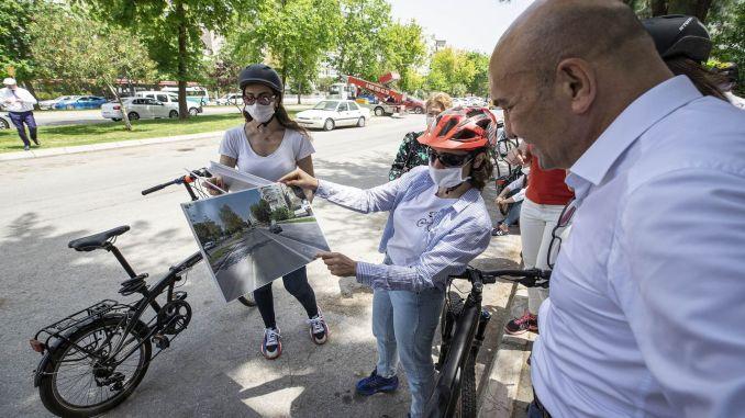 Những con đường mới đang được xây dựng để sử dụng xe đạp sẽ tăng lên sau đại dịch ở Izmir.