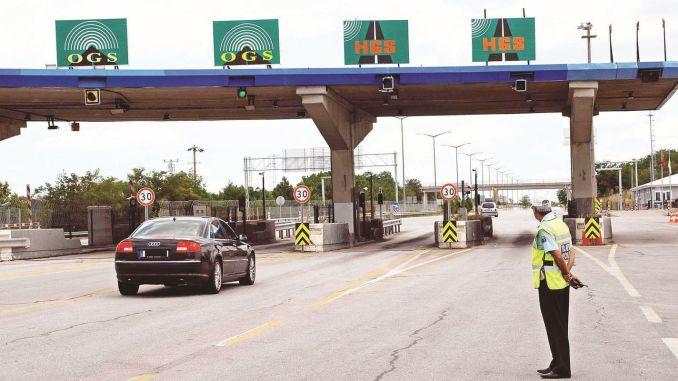 Regelung von Brücken- und Fußgängerüberwegen auf Autobahnen