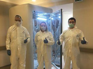 de cabine die het coronavirus per seconde doodt